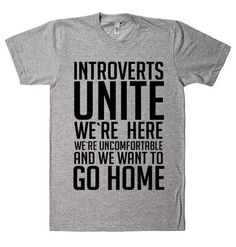 introverts unite t shirt  - 1