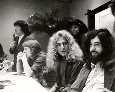 Led Zeppelin at a press conference in Tokyo.