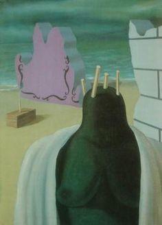 Rene Magritte: 1927 De terechtstelling van de Vestaalse Maagd / Le Supplice de la vestale .