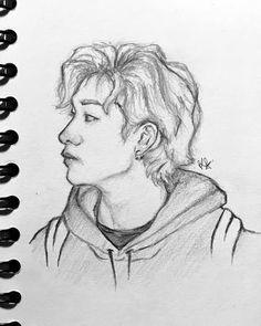 Kpop Drawings, Pencil Art Drawings, Art Drawings Sketches, Kids Fans, Foto Baby, Arte Sketchbook, Kpop Fanart, Drawing For Kids, Art Inspo