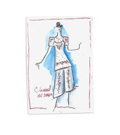 Chanel Fall/Winter 2016-2017 Haute Couture Sketch By Karl Lagerfeld.