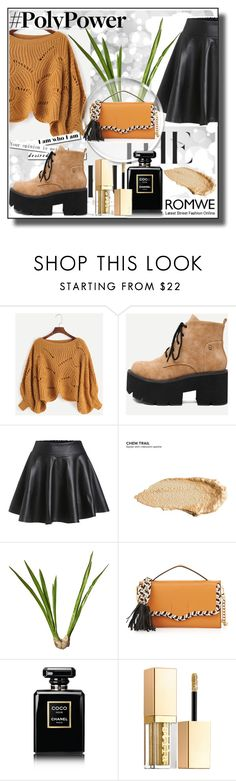 """""""Romwe III 5/10"""" by dinna-mehic ❤ liked on Polyvore featuring Urban Decay, OKA, Rebecca Minkoff, Chanel, Stila and romwe"""