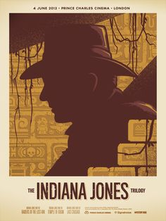 ASSIGNMENT: design/recreate a movie poster using simple shapes and forms. Also consider using a limited color pallet. Example by: Indiana Jones Trilogy poster by James White of Signal Noise.