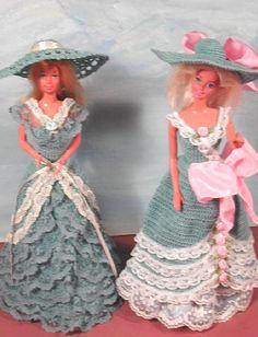 Crochet Fashion Doll Barbie  Pattern- #450 BLUE BONNETS