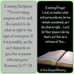 Evening Scripture & Prayer #atruegospelministry