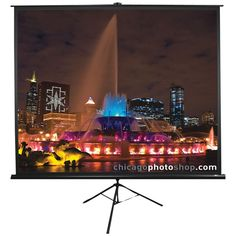 "Elite Screens Tripod Series Projection Screen (1:1 Format; 71""; 50"" X 50"")"
