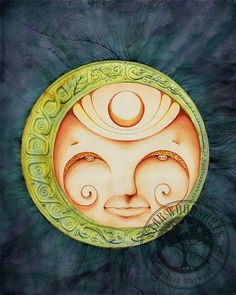 Mystic Sun  Watercolor Painting 8x10 Print by StarwoodArts on Etsy, $18.00