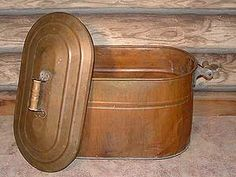 Antique Copper Boiler with Lid - for boiling laundry water