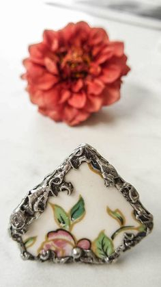 Excited to share the latest addition to my shop: Adjustable Broken China Ring-Pink Flower-FreeForm Shape-Funky-Bling Ring-Vintage Plate-Pewter Vintage Plates, Vintage Rings, Broken China, China Plates, Pink Ring, Pink Flowers, Pewter, Antique Silver, Art Nouveau