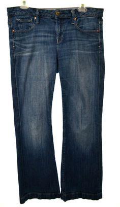 GAP 1969 Womens 29 8P Medium Wash Stretch Long & Lean Bootcut Denim Jeans  #GAP #BootCut