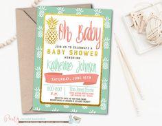Aloha Baby Shower Invitation Luau Baby by PartyInvitesAndMore