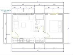 16 x 28 floor plans