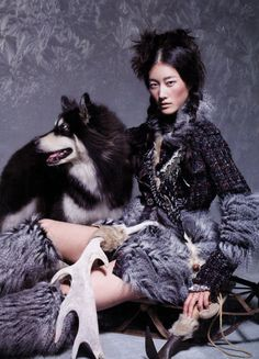 """The Terrier and Lobster: """"Ice Age"""": Lee Hyun Yi in Chanel Yeti Shoes by Lee Gun Ho for Vogue Korea Vogue Korea, Shaman Woman, Witch Queen, Lee Hyun, Ice Age, Vogue Magazine, World Of Fashion, Editorial Fashion, Vogue Editorial"""