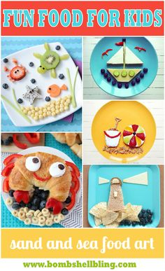 Sand and Sea Food Art at Bombshell Bling #funwithtrukid #family #happykids --- for all kids related activities