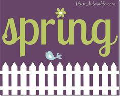 FREE Sweet Spring Printables! #spring #printable