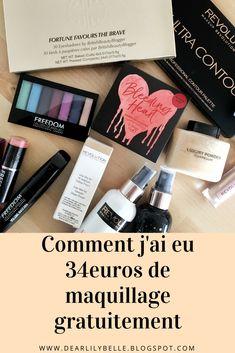 Comment ai-je fait pour avoir 34 euros de maquillage gratuitement en passant ma première commande MakeUp Revolution ? Go sur dearlilybelle.blogspot.com !