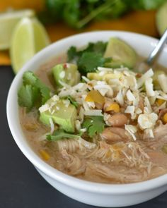 Slow Cooker White Chicken Chili - An easy meal for the crock pot! www.jessfuel.com