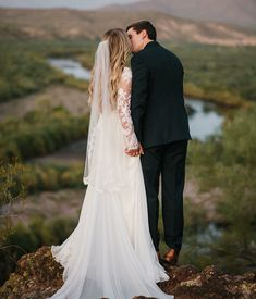 modest wedding dress with long sleeves from alta moda. -- (modest bridal gown) photo by @brittanylesuerphoto