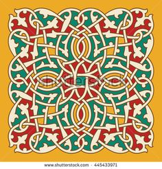 Arabic Floral Ornament. Traditional Islamic Design. Mosque decoration element.
