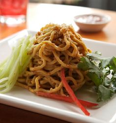 Recipes | bigbowl.com  Spicy Sesame Peanut Noodles - served cold/room temp- Love these!! Had them again on vacation and they are wonderful.