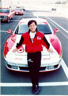 Jackie Chan with one of his race cars
