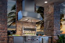 Best 42 Inch Emperor Outdoor Wall Mount Canopy Pro Style Hood with Heat Sentry, 304 Stainless Steel Baffle Filters, Variable-speed Rotary Control, and Halogen Light: Stainless Steel Outdoor Flooring, Outdoor Walls, Covered Outdoor Kitchens, Outdoor Refrigerator, Ventilation Hood, Kitchen Exhaust, Fire Table, Outdoor Kitchen Design, Range Hoods