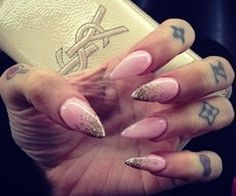 Light pink with gold fade up -cute
