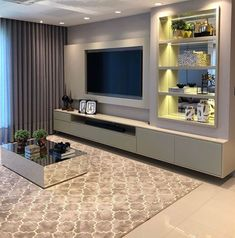 How To Quickly And Easily Create A Living Room Furniture Layout? Living Room Tv Unit Designs, Living Room Wall Units, Living Room Decor, Muebles Rack Tv, Tv Wanddekor, Modern Tv Wall Units, Tv Wall Decor, Tv Unit Decor, Modern Kitchen Interiors
