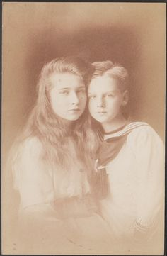 """carolathhabsburg:""""Pss Marie and brother, Prince Nicholas of Romania"""" Princess Alexandra, Princess Beatrice, Prince And Princess, Romanian Royal Family, Young Prince, Blue Bloods, Rare Pictures, Princess Victoria, Queen Mary"""