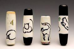 Lampwork glass beads by Cynthia Liebler Saari