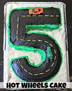 Simple Hot Wheels Themed Birthday Cake