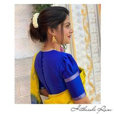 Blouse Designs High Neck, Simple Blouse Designs, High Neck Blouse, Stylish Blouse Design, Saree Blouse Designs, Simple Designs, Mehndi Art Designs, How To Treat Acne, Girl Photos
