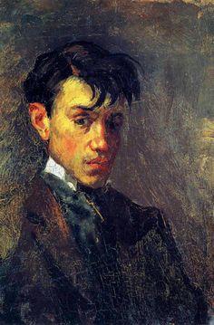 pablo-picasso/first self-portrait-1896