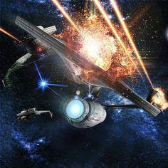 enterprise by tobias richter of the light works Stood No Chance Klingon Empire, Star Trek Klingon, Star Trek Starships, Scotty Star Trek, Star Trek Tos, Uss Enterprise Ncc 1701, Star Trek Enterprise, Starwars, Star Trek Wallpaper