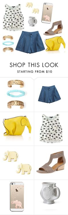 """E is for Elephant"" by sassyladies ❤ liked on Polyvore featuring Arizona, Vanishing Elephant, Loewe, Sydney Evan, Coclico, Casetify and Jonathan Adler"