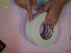 Tutorial- Duct Tape Mini Album Spine By :Kathy Orta
