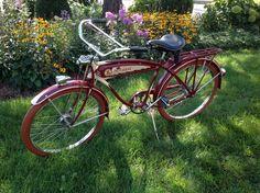 SCHWINN EXCELSIOR MOTORBIKE PREWAR BICYCLE SPRINGER CROSSBAR!