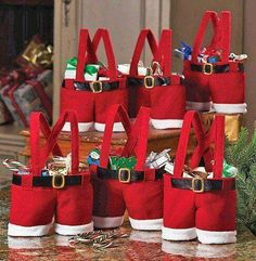 Homecube Christmas Candy Bag Santa Pants Gift and Treat Bags with Handle Portable Candy Gift Baskets Gift Wrap for Wedding, Pack of L x H) Christmas Gifts For Coworkers, Christmas Gift Bags, Best Christmas Gifts, Christmas Time, Holiday Gifts, Christmas Crafts, Christmas Decorations, Christmas Ornaments, Country Christmas