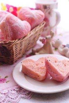「ラブリーピンクのハートの食パン」ぽんのすけ   お菓子・パンのレシピや作り方【corecle*コレクル】
