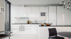 Park House olohuone, teemalla Milano Park House, Kitchen Cabinets, Table, Furniture, Home Decor, Decoration Home, Room Decor, Cabinets, Tables