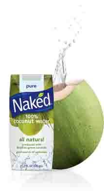 naked coconut water by itself or in a smoothie. I usually have it on the days I do cardio and sweat a lot. I have about 8oz size.