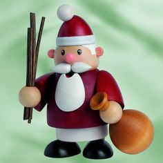 Miniature Little Fellow Santa Incense SmokerHandcrafted in the Erzgebirge region of Germany by KWOMade from woodApproximately 4 inches tall original KWO box and packaging German Christmas Decorations, Christmas Wood, Christmas Time, Christmas Crafts, Christmas Ornaments, Wooden Figurines, Nutcracker Christmas, Wooden Art, Wood Toys