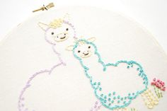 Learn how to embroider something special with these Mother's Day crafts.