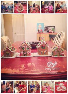 Augusta GA Newborn Photographer makes gingerbread houses | Mary Beth's Photography #gingerbreadhouses #augustaganewbornphotographer #holidays #December