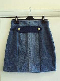 'So, Zo...': Refashion Friday Inspiration: Front Tab Denim Skirt