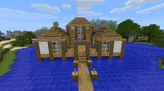 Minecraft House Blueprints | Waterhouse - Minecraft Constuctions Wiki