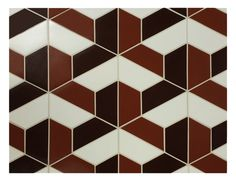 Great floor pattern for restaurants ....   Half Hex pattern cut and assembled by Quarry Tile. For more information call us 800.423.2608.