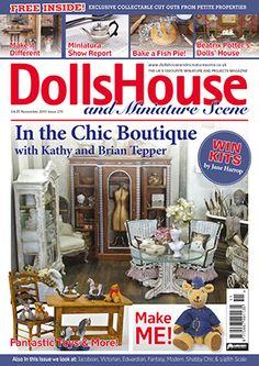 November 2015 Dolls House and Miniature Scene magazine front cover ...