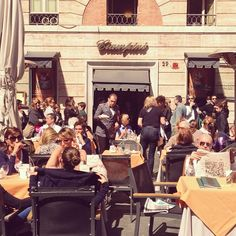 Ciampini in Piazza di San Lorenzo in Lucina - epic cafe for people watching & spotting fashionisti!