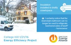Recently finished energy efficiency project in College Hill by the Greater Cincinnati Energy Alliance. #energyefficiency #sprayfoamftw